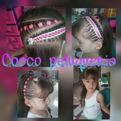 Peinados bacanos Braids For Kids, Toddler Hair, Hair Dos, Girl Hairstyles, Diana, Hair Color, Hair Beauty, Hair Styles, Beautiful