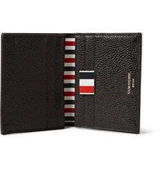 Printed with the house's signature red, white and navy stripes, <a href='http://www.mrporter.com/mens/Designers/Thom_Browne'>Thom Browne</a>'s cardholder is the perfect everyday accessory for stalwart fans. It has been crafted in the USA from durable pebble-grain leather and has enough slots to organise your most-used resources.