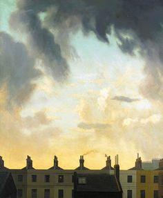 Algernon Newton (British, 1880–1968), Evening sky over Church Street. Oil on canvas, 92 x 76 cm.