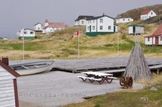Picture of the historic buildings at Battle Harbour in Southern Labrador which was once home to a very successful cod fishery.