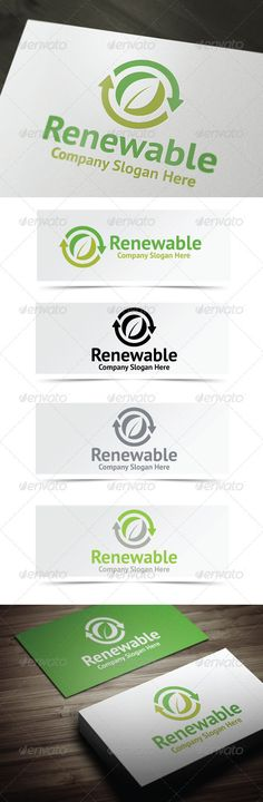 Renewable Resources Logo - $29  http://graphicriver.net/user/debo243/portfolio