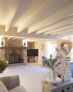 34 French Country Interior Bungalow Trending This Year - Home Decor Ideas - Country # Stunning French Country Interior Bungalow - French Country Rug, French Country Bedrooms, French Country Living Room, French Cottage, French Country Decorating, French Style, Country Kitchen, Cottage Lounge, Cottage Living Rooms