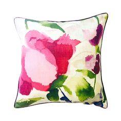 Watercolour Brights Square Cushion   Dunelm