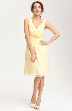 Amsale Ruffle Crinkle Silk Chiffon Dress  ba97627c6fa7