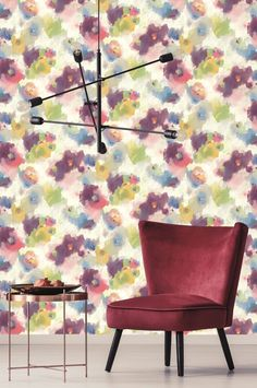 Inspired by the exhilarating Modern Art movement, the Modern Art Wallpaper collection by York Wallcoverings sets aside tradition and dares to explore and experiment with abstraction. Power Wallpaper, Plant Wallpaper, Watercolor Wallpaper, Wall Wallpaper, Modern Wallpaper Designs, Colorful Wallpaper, Wallpaper Samples, Pattern Wallpaper, Modern Art Movements