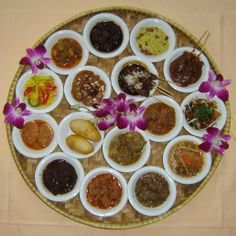Rijsttafel meal at the Oasis Restaurant Jakarta