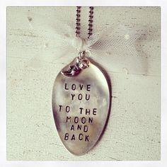 Vintage Stamped Spoon Necklace