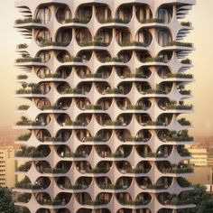 Penda has revealed renderings for a new residential tower in Tel Aviv, Israel. The form of the building, made up of a tesselating sequence…
