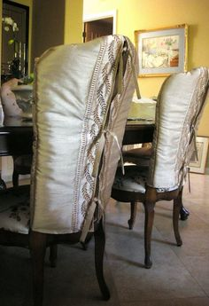 elegant slipcovers ~ made from a comforter!