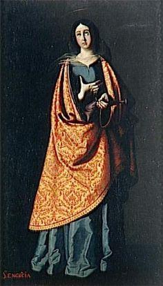 Saint Engracia by Francisco De Zubaran