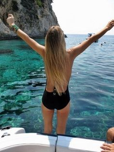 Love this swimsuit and the water