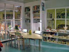 reggio-inspired atelier. #artclassroom #atelier #reggio