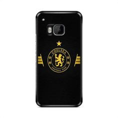 Chelsea Football Gold Leather Logo HTC One M9 Plus Case | Caserisa