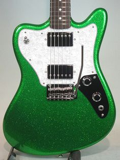 Psychederhythm / Super Panic Green Sparkle Guitar Free Shipping!, $2 735.00