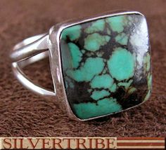Navajo Indian Turquoise Silver Ring Jewelry GS56131