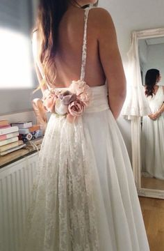 Flower bridal dress