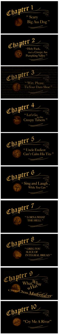 Over the Garden Wall title card as how the episodes would have been named based on the plot (Credit to whoever did this funny thing) #OTGW