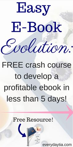 Did you wanna create an ebook but shelved the idea? Do you want to create a new stream of passive income so you can finally turn your blog into an at home business and live your life as an amazing entrepreneur that everyone else will be jealous of? Enroll in the FREE Easy E-Book Evolution crash course to help you create an awesome outline for your ebook in 5 days or less!
