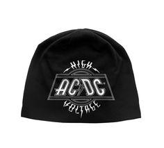 44f10353af73d AC DC High Voltage Classic Album Logo Black Beanie Hat One Size - Paradiso  Clothing