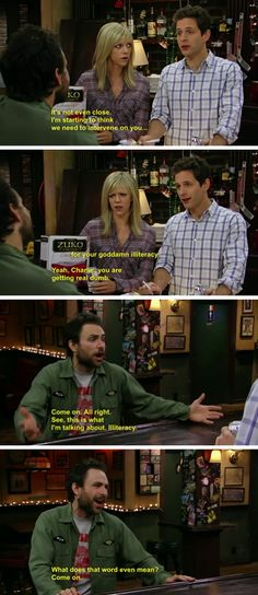 """25 Times """"It's Always Sunny In Philadelphia"""" Was So Fucked Up It's Always Sunny Quotes, Charlie Kelly, Sunny In Philadelphia, Zuko, My Spirit Animal, Moving Pictures, Abandoned Castles, Abandoned Mansions, Abandoned Places"""
