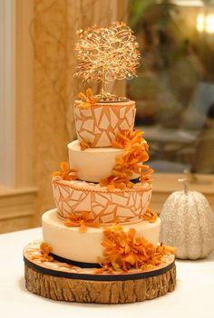 64 Awesome Fall Wedding Cake Ideas