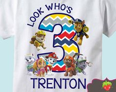 Paw Patrol Personalized Birthday Shirt by BerryBestTees on Etsy