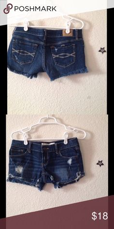A&F ripped shorts Stretchy Abercrombie & Fitch Shorts Jean Shorts