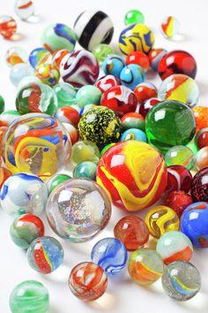 Marbles!  cats eyes, aggies, pee wees, puries, boulders .....