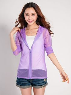 Sun Protective Clothing Long Sleeve Shirt Ultra thin Air Conditioning Outerwear Sun Protection Clothing $8.69
