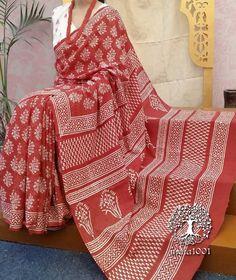 Beautiful Hand Block Printed Cotton Saree Block Print Saree, Ikkat Saree, Printed Sarees, Cotton Saree, Office Wear, Beautiful Hands, Printed Cotton, Print Patterns, Woman Clothing
