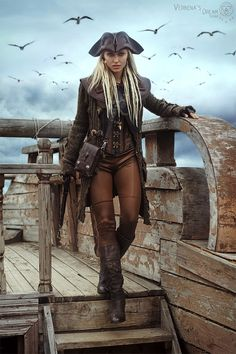 Pirate Art, Pirate Woman, Pirate Life, Fantasy Women, Fantasy Girl, Character Outfits, Character Art, Pirate Cosplay, Mode Steampunk