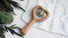 A wooden Heart rattle made of beech and covered with linseed oil is the ideal first toy for babies to grasp, shake and chew. Sanded perfectly…