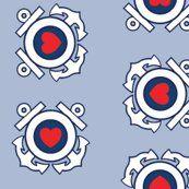 Coast Guard fabric - emblem with heart #USCG