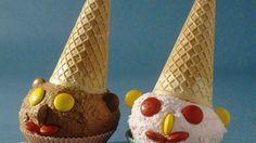 Clowns aus Eiscreme für Kinder
