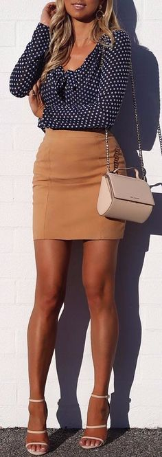 high heels style office outfit idea