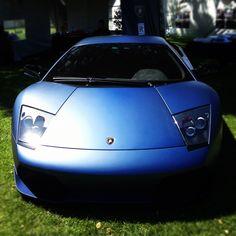 Matte blue Lamborghini