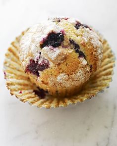 This recipe for Martha's favorite blueberry muffins includes options for both crunchy sugar and crumb toppings.