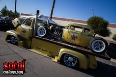 this bed truck along with the hot rod will be sold at this year's 46th annual barrett Jackson auction in Scottsdale in 2017, this 1953 ford cab over flatbed truck sold for: $137.500 at barrett Jackson in Scottsdale  in 2017.