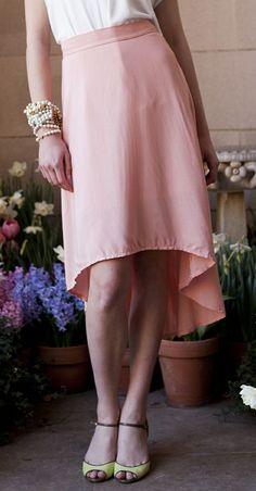 Pink Hi-Low Magnolia Skirt