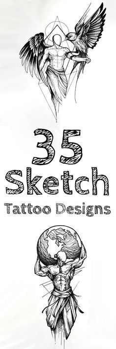 Sketch style tattoo ideas are very popular nowadays among hipsters and not only them. Sketchy designs look really stylish on both women and men.