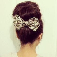Bun and bow, adorable combination