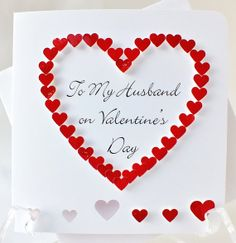 Handmade 3D Valentines Card Personalised by CardsbyGaynor on Etsy, £3.95