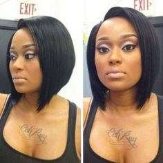 Straight Angled Relaxed Bob