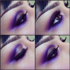 Flawless look by Loreleicakes using #Sugarpill Poison Plum eyeshadow. So pretty! #eotd