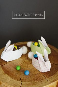 The Very Best Easter Crafts For Kids- origami bunnies
