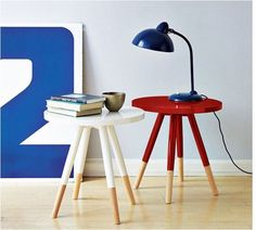 another idea for cheap walmart side table dipped-furniture-for-the-home Dipped Furniture, Painted Furniture, Modern Furniture, Home Design, West Elm Side Table, Paint Dipping, Nordic Interior, Interior Decorating, Interior Design