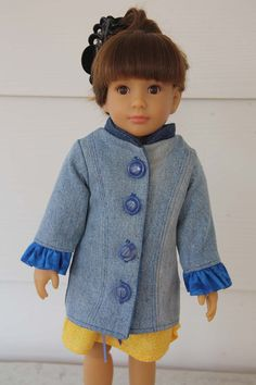 Princess Coat Pattern Slim 18 inch dolls by windwoman21 on Etsy