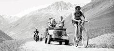 Tour de France 1952. 11^Tappa, 6 luglio. Le Bourg-d'Oisans > Sestriere. Col du Galibier. Fausto Coppi (1919-1960)