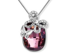 22,94 $ Aliexpress.com : Buy 2 Options Austrian Crystal Made With Swarovski Elements Butterfly On A Stone Pendant Necklace Women Bridal Children Gir...