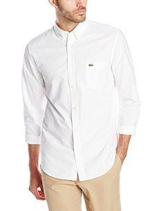 Lacoste Men's Long-Sleeve Button-Down Oxford Shirt